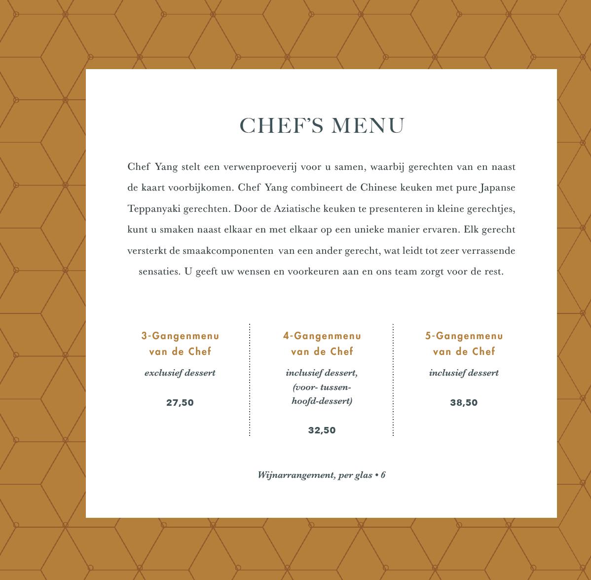 chefsmenukaart